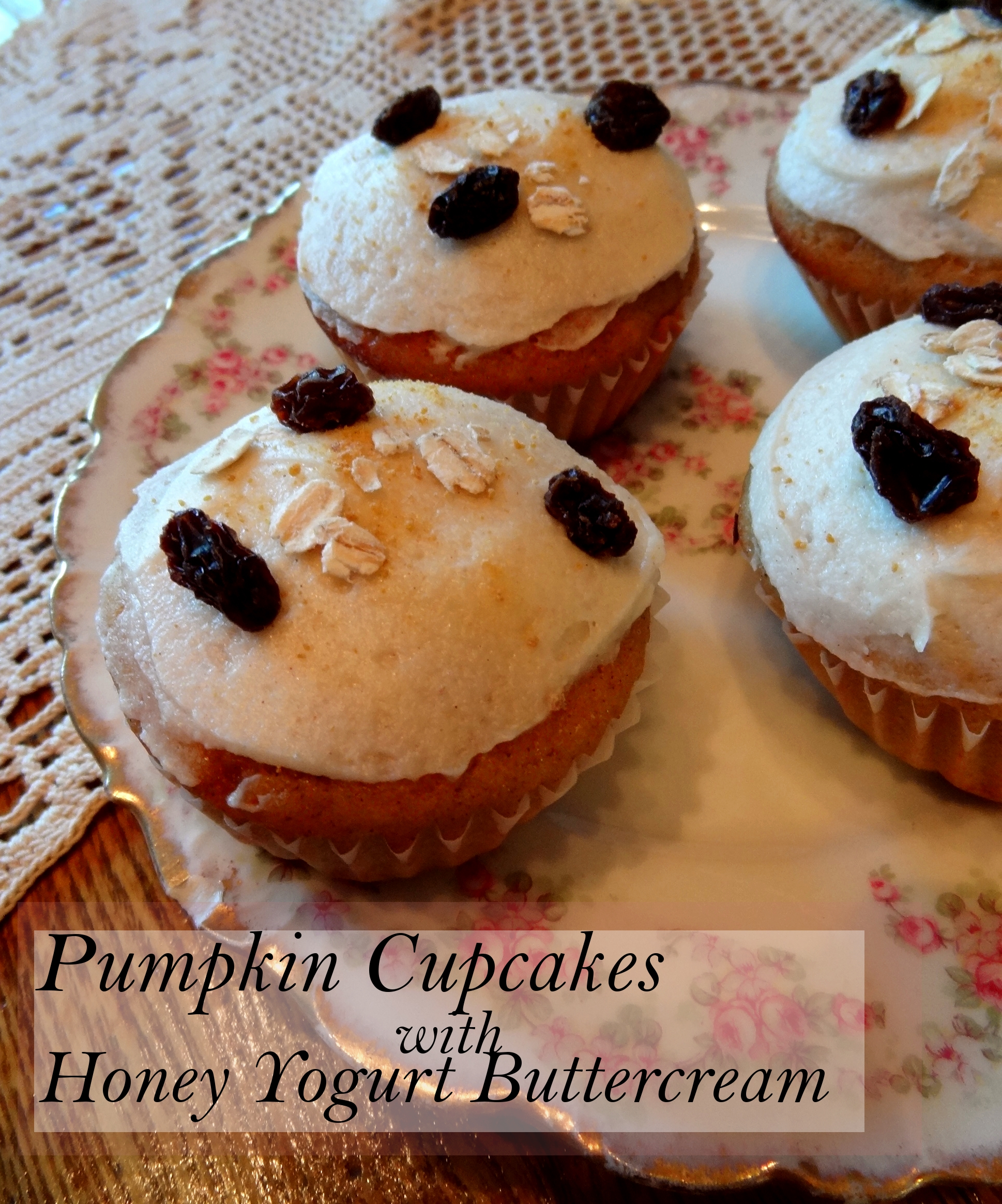 Pumpkin Cupcakes With Yogurt Honey Buttercream